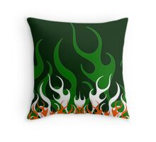 Irish Hot Rod Flames Throw Pillow