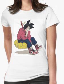 Goku cloud Womens Fitted T-Shirt