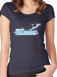 Pirate penguin and shark Women's Fitted Scoop T-Shirt