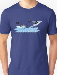 Pirate penguin and shark Unisex T-Shirt