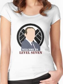 Welcome to Level Seven  Women's Fitted Scoop T-Shirt