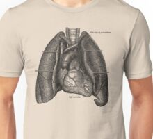 anatomical drawing of lungs and heart Unisex T-Shirt
