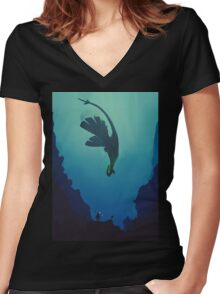 Lugia... Women's Fitted V-Neck T-Shirt