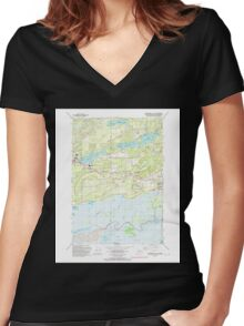 USGS TOPO Map Alaska AK Anchorage C-7 SE 353631 1992 25000 Women's Fitted V-Neck T-Shirt
