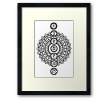 The Seven Chakras Mandala Framed Print