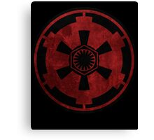 galactic empire and first order emblem Canvas Print