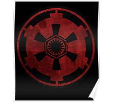 galactic empire and first order emblem Poster