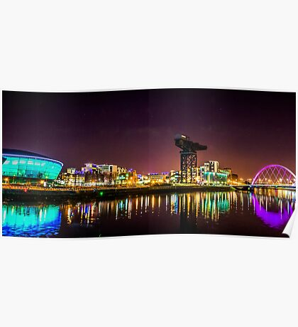 The Clydeside at night Poster