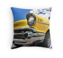 MAN CAVE THROW PILLOW SERIES - Yellow 57 Chevy Throw Pillow