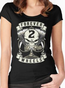Forever 2 Wheels Women's Fitted Scoop T-Shirt