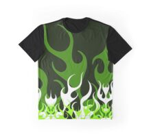 Celtic Hot Rod Flames Greens Graphic T-Shirt
