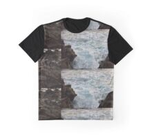 Water over rocks Graphic T-Shirt