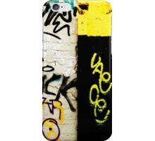 Black and Yellow Graffiti iPhone Case/Skin