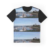 Boats in Harbour Graphic T-Shirt