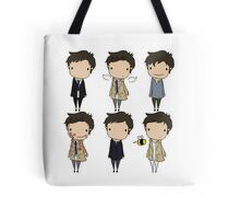 The Many Faces of Castiel Tote Bag