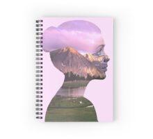 Mountainous girl Spiral Notebook