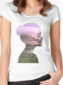 Mountainous girl Women's Fitted Scoop T-Shirt