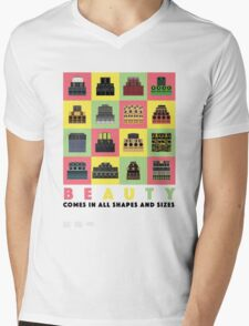 Beauty Comes in All Shapes and Sizes Mens V-Neck T-Shirt
