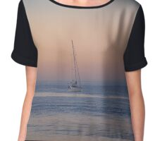 Sunset Mooring Chiffon Top