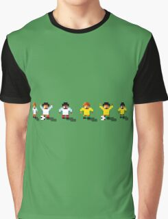 England vs Australia 2016 - Sensible World Of Soccer Sprites Graphic T-Shirt