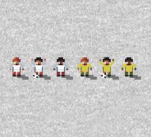 England vs Australia 2016 - Sensible World Of Soccer Sprites One Piece - Long Sleeve