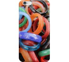 colorful rings as background iPhone Case/Skin