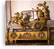 Golden Carriage - Object Photography Canvas Print