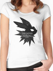 Thunder Is Coming Women's Fitted Scoop T-Shirt