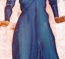 lady in blue Sticker