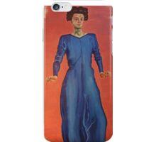 lady in blue iPhone Case/Skin