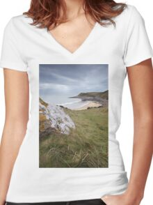 Fall bay Women's Fitted V-Neck T-Shirt