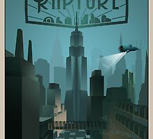 Rapture Art-Deco Travel Poster (Without Texture) by Zigzugzwang