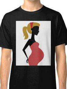 Pregnant woman silhouette Illustration Classic T-Shirt