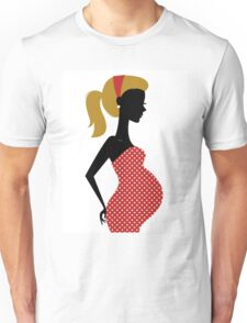 Pregnant woman silhouette Illustration Unisex T-Shirt