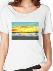 Misty lanscape Women's Relaxed Fit T-Shirt