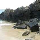 Rocks, Sand and Sea - Hebridean Seascape by MidnightMelody