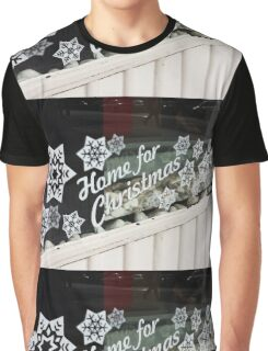 Home for Christmas Shop Window Graphic T-Shirt
