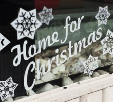 Home for Christmas Shop Window Sticker