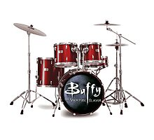 Buffy the Vampire Slayer Drums Photographic Print