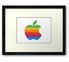Rainbow Apple Framed Print