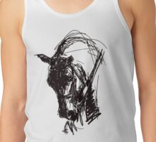 Dressage Horse Drawing  Tank Top