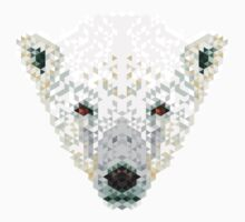 Triangle Pixels - Polar Bear Kids Tee