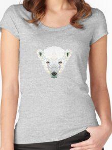 Triangle Pixels - Polar Bear Women's Fitted Scoop T-Shirt