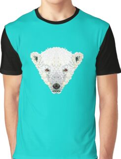 Triangle Pixels - Polar Bear Graphic T-Shirt