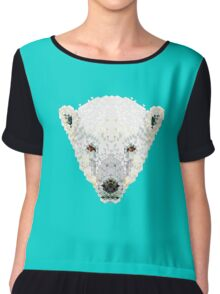 Triangle Pixels - Polar Bear Chiffon Top