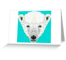 Triangle Pixels - Polar Bear Greeting Card