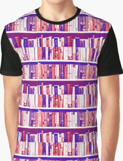 bookshelf in blue, purple and red Graphic T-Shirt