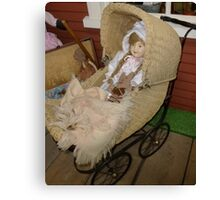 Doll In A Stroller Canvas Print