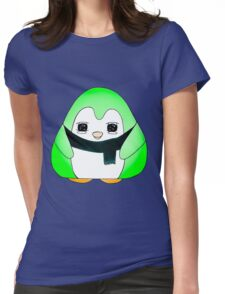 Minty Green Gum Drop Penguin Womens Fitted T-Shirt