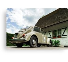 Beautiful retro car renovated with love, style and power Canvas Print